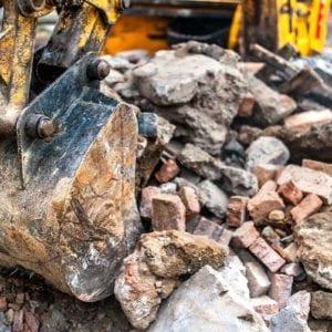 Bau- und Abbruchabfall mit Mineralik